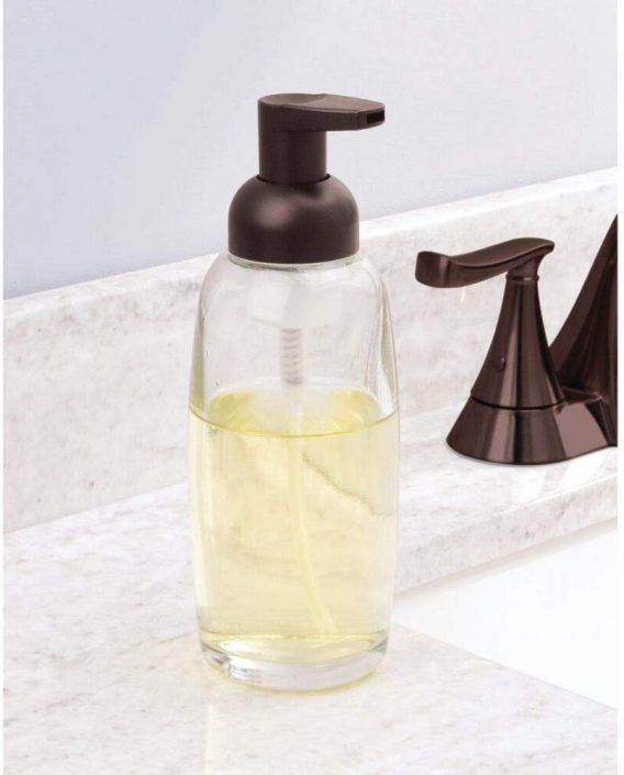 Clear/Bronze Glass Foam Bottle