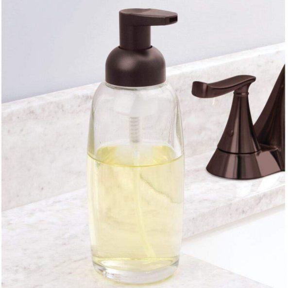 Clear/Bronze Glass Foam Bottle